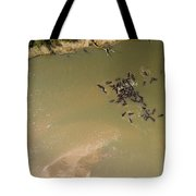 A Pod Of Hippos In The Luangwa River Tote Bag