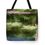 A Pond Reflection Tote Bag