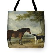 A Pony With A Dog Tote Bag