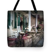 A Porch On The Bay Tote Bag