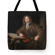 A Portrait Of A Gentleman In His Study Tote Bag