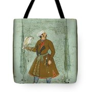 A Portrait Of A Nobleman Holding A Falcon Tote Bag