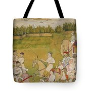A Prince Rides Out With A Hunting Party Tote Bag