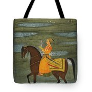 A Prince Riding In A Landscape Tote Bag