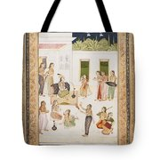 A Princess With Attendants On A Terrace Tote Bag