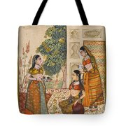 A Princess With Her Maidservants On A Terrace Tote Bag