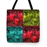 A Quadruple Of Tulips Tote Bag