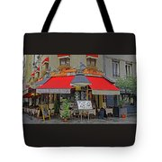 A Quaint Restaurant In Paris, France Tote Bag