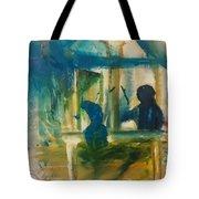 A Quiet Conversation Tote Bag