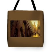 A Quiet Sunday Morning In Chicago Tote Bag