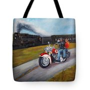A Race In Time Tote Bag