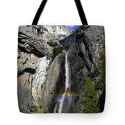 A Rainbow Emanating From Yosemite Falls Tote Bag
