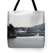 A Rainy Foggy Day In Hoonah Tote Bag