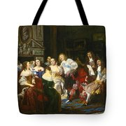A Reading By Madame De Sevigne Tote Bag