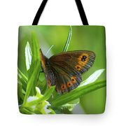 A Red Butterfly Perching  Tote Bag