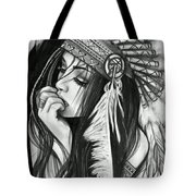 A Red Indian Girl Tote Bag