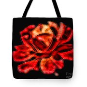 A Red Rose For You 2 Tote Bag by Mariola Bitner