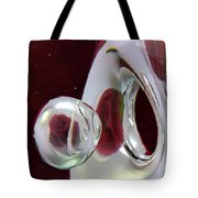 A Reflected Red Rose Tote Bag