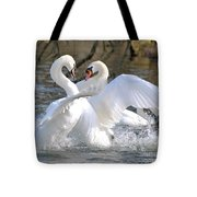 A Regal Fight Amongst Kings Tote Bag