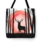 A Reindeer In The Woods Tote Bag