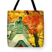 A Return To Fall - Digital Painting Tote Bag