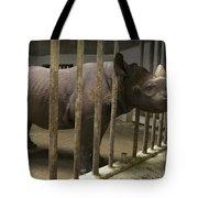 A Rhino At The Sedgwick County Zoo Tote Bag