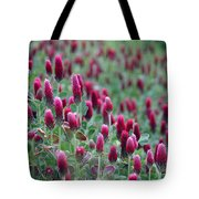 A Riot Of Red Clover Tote Bag