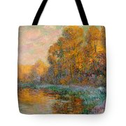 A River In Autumn Tote Bag
