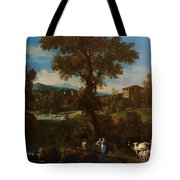 A River Landscape Tote Bag