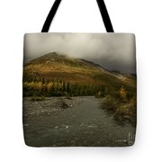 A River Runs Through The Brooks Range Alaska Tote Bag