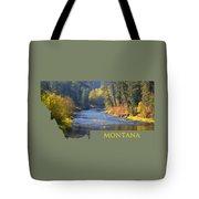 A River Runs Thru Autumn Tote Bag