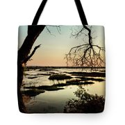 A River Sunset In Botswana Tote Bag