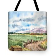 A Road To The Mountain Tote Bag