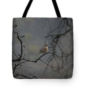 A Robin In Spring Snowfall  Tote Bag