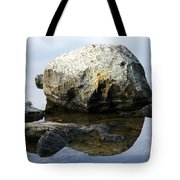 A Rock In Still Water Tote Bag