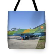 A Romanian Air Force Mig-21b Airplane Tote Bag