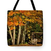 A Romantic Autumn Spot In Inlet Tote Bag