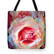 A Romantic Pink Rose Tote Bag