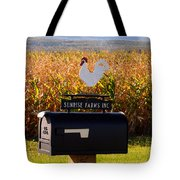 A Rooster Above A Mailbox 1 Tote Bag