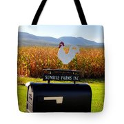 A Rooster Above A Mailbox 2 Tote Bag
