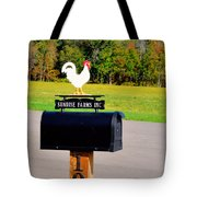 A Rooster Above A Mailbox 3 Tote Bag