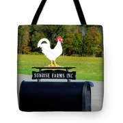 A Rooster Above A Mailbox 4 Tote Bag