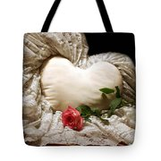 A Rose And A Heart Tote Bag