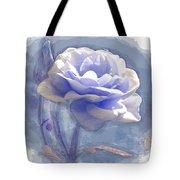 A Rose In Pastel Blue Tote Bag