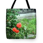 A Rose Is Down Tote Bag