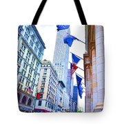 A Row Of Flags In The City Of New York 2 Tote Bag