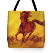 A Running Horse Tote Bag