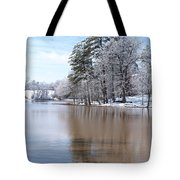 A Rural Lake Tote Bag