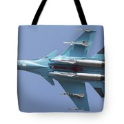A Russian Air Force Su-34 In Flight Tote Bag