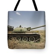A Russian T-62 Main Battle Tank Rests Tote Bag